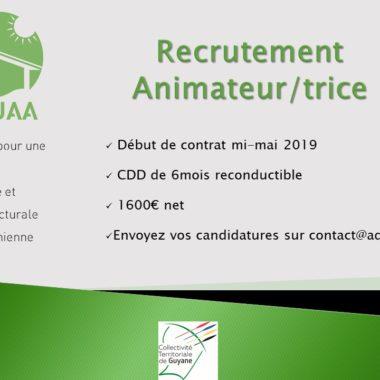AQUAA recrute un(e) animateur(trice)