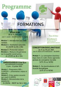 Programme des formations
