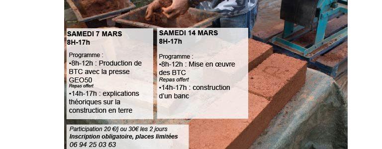 Atelier de construction de terre crue