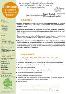 Module 1 : conception bioclimatique